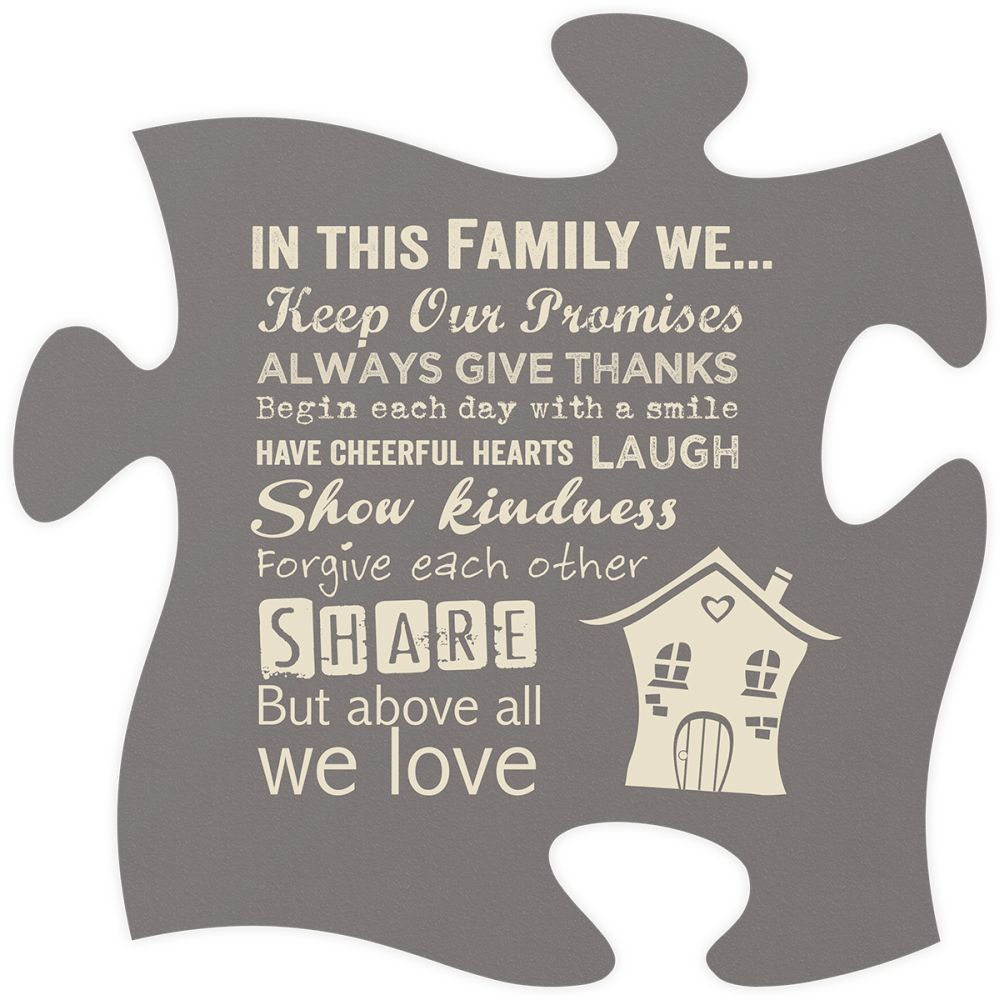 In this Family Quote Puzzle Piece Awesome new stuff