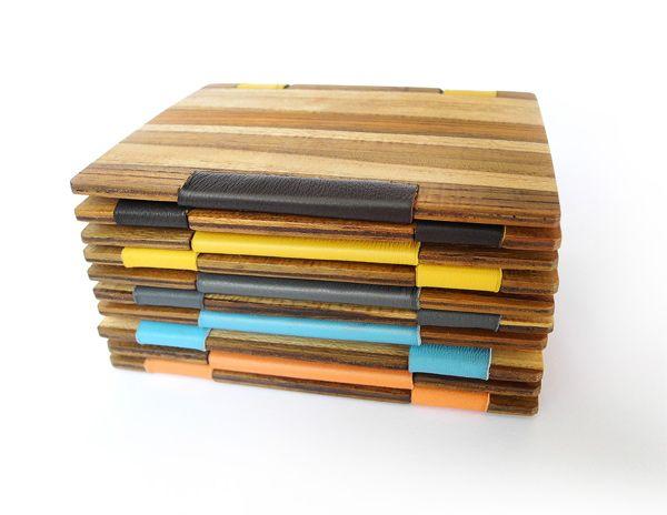 Carteira mágicas feitas de madeira TECA.