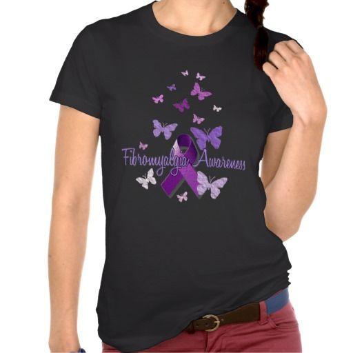 Fibromyalgia Awareness (Butterfly) T-shirts