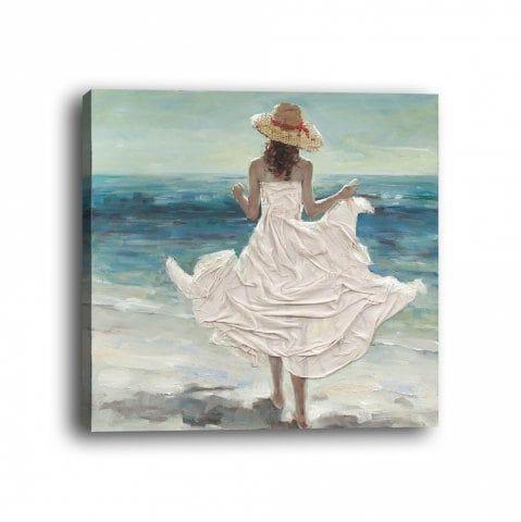 Aquarelle Peinture Originale Chemin En Bord De Mer Ocean Cote