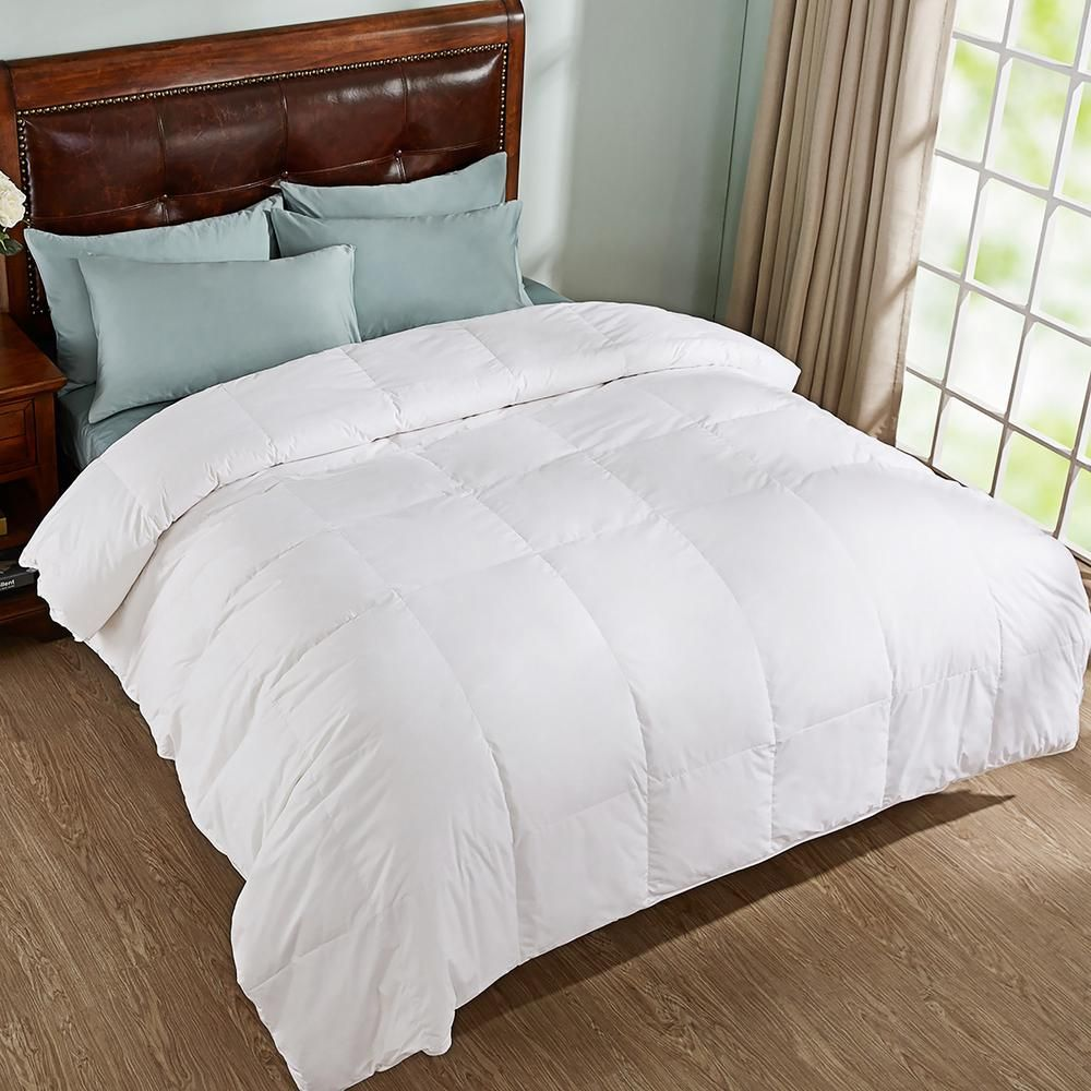 Peace nest All Season Year Round Warmth White Full/Queen Down Comforter HE-DC-18001-F - The Home Depot