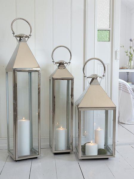 Big Stainless Steel Lanterns In 2019 Lanterns Decor