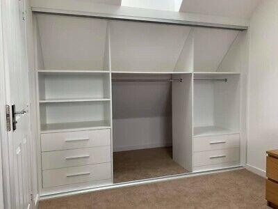 Loft Slope Roof Bespoke Fitted Wardrobe Storage Made To Measure. Custom Design    eBay