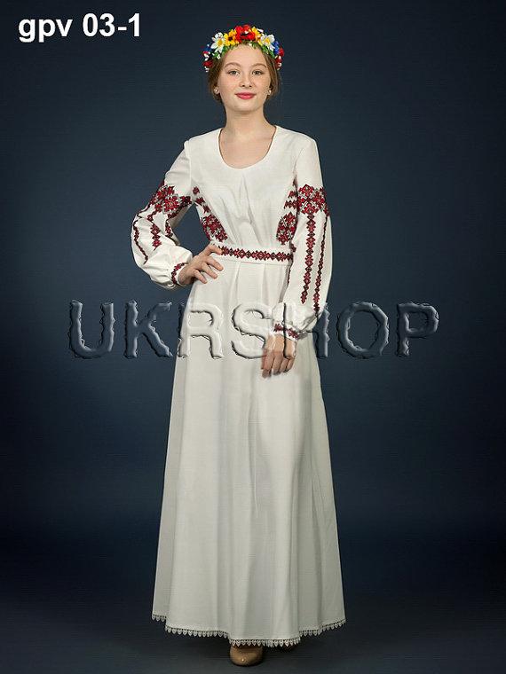 Vyshyvanka dress Ukrainian crossstitch embroidered dress Stylish