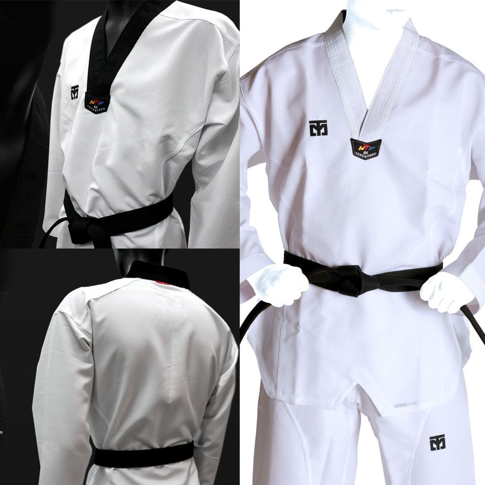 Karate//Taekwondo White Gi Cotton//Poly 10-OZ Middle Weight Preshrunk Adult//Kids