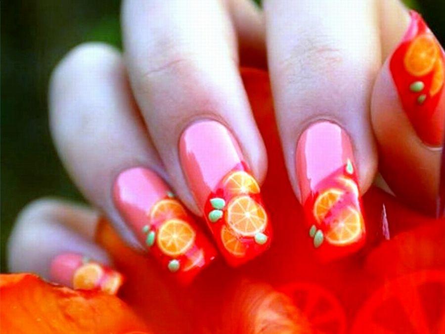 Cute Fruit Design | Nail Designs | Pinterest