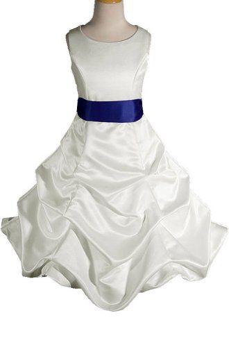 3f98c0de1 AMJ Dresses Inc Girls Ivory royal Blue Flower « StoreBreak.com ...