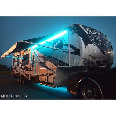 Multi Color Led Rv Awning Light Kit Awning Lights Light Travel Trailers Led Light Kits