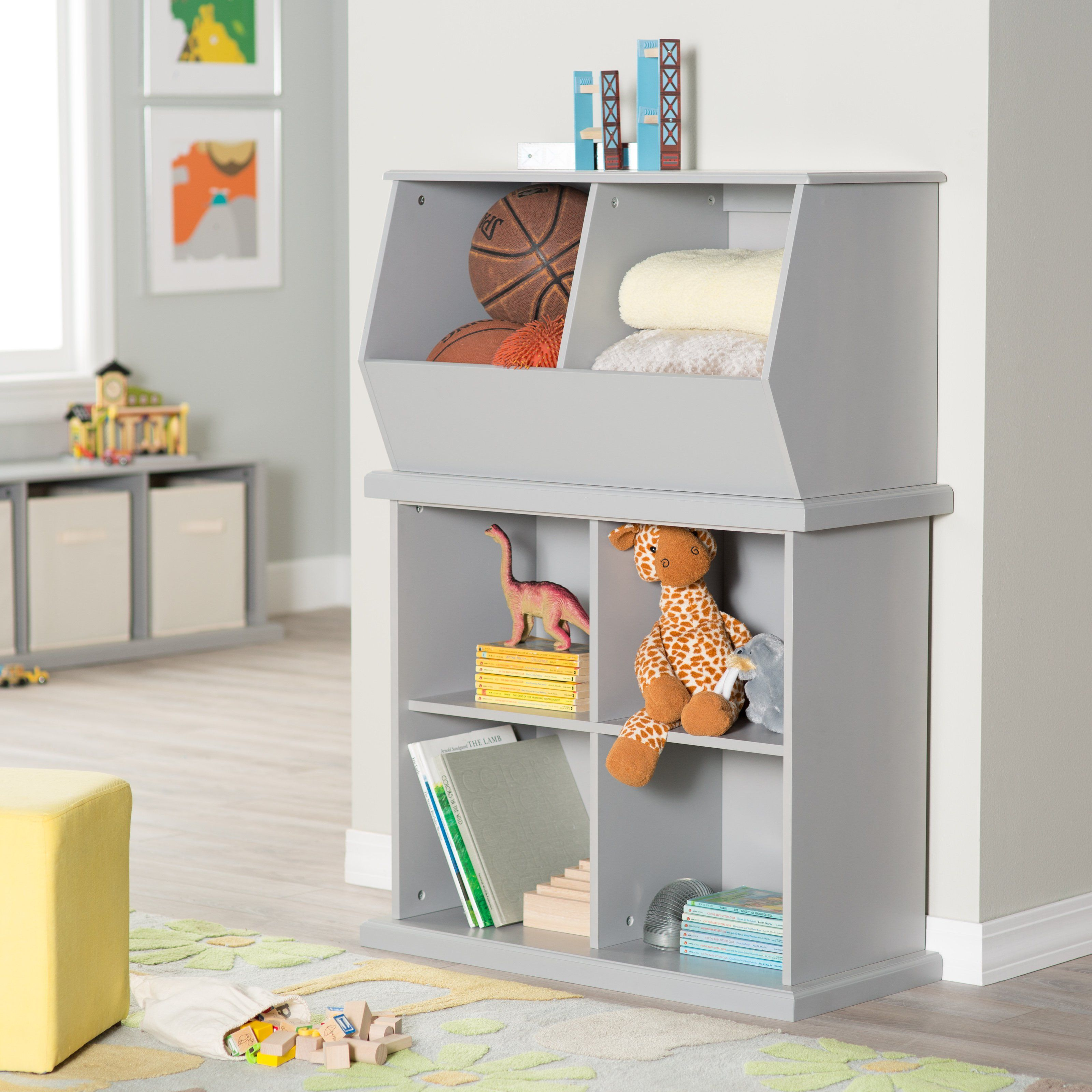 Classic Playtime Stackable Toy Storage   Gray   In Any Configuration, The  Classic Playtime Stackable