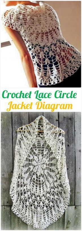 Diy crochet lace circle jacket free diagram crochet circular vest diy crochet lace circle jacket free diagram crochet circular vest sweater jacket patterns ccuart Gallery