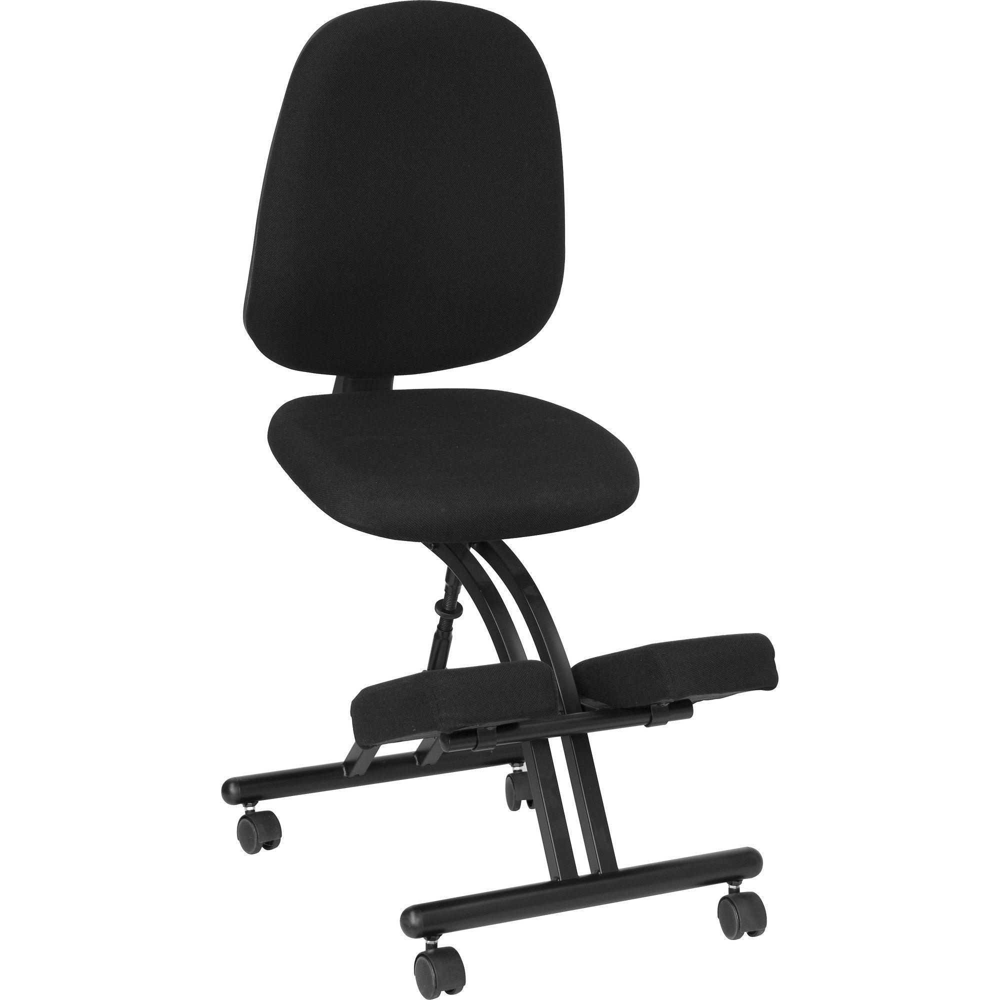 Mobile Ergonomic Kneeling Chair in Black Fabric | Products | Pinterest