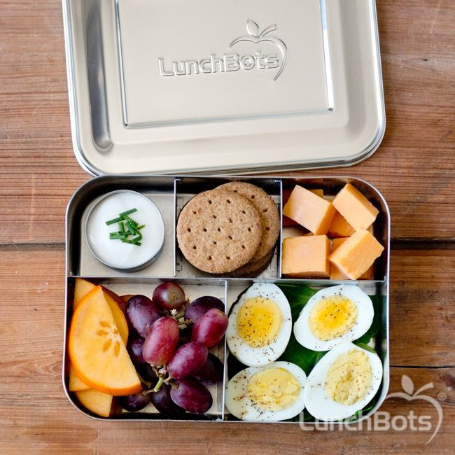 a diy bistro box perfect for work or school packed in the lunchbots bento cinco with five. Black Bedroom Furniture Sets. Home Design Ideas