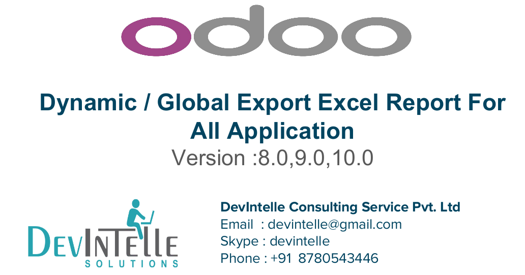 Odoo Dynamic / Global Export Excel Report For all