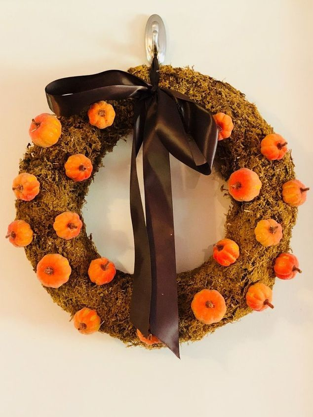 Photo of Fall Pumpkin Wreath with Dollar Store Items