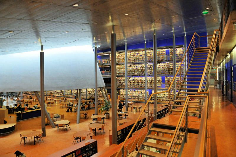 Delft University Of Technology Library South Holland Netherlands Built In 1997 The Was Created By Architectural Firm Designs Mecanoo