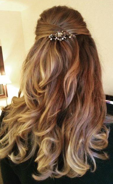 26 Stunning Half Up Half Down Hairstyles Stayglam Down Hairstyles For Long Hair Long Hair Styles Half Up Hair