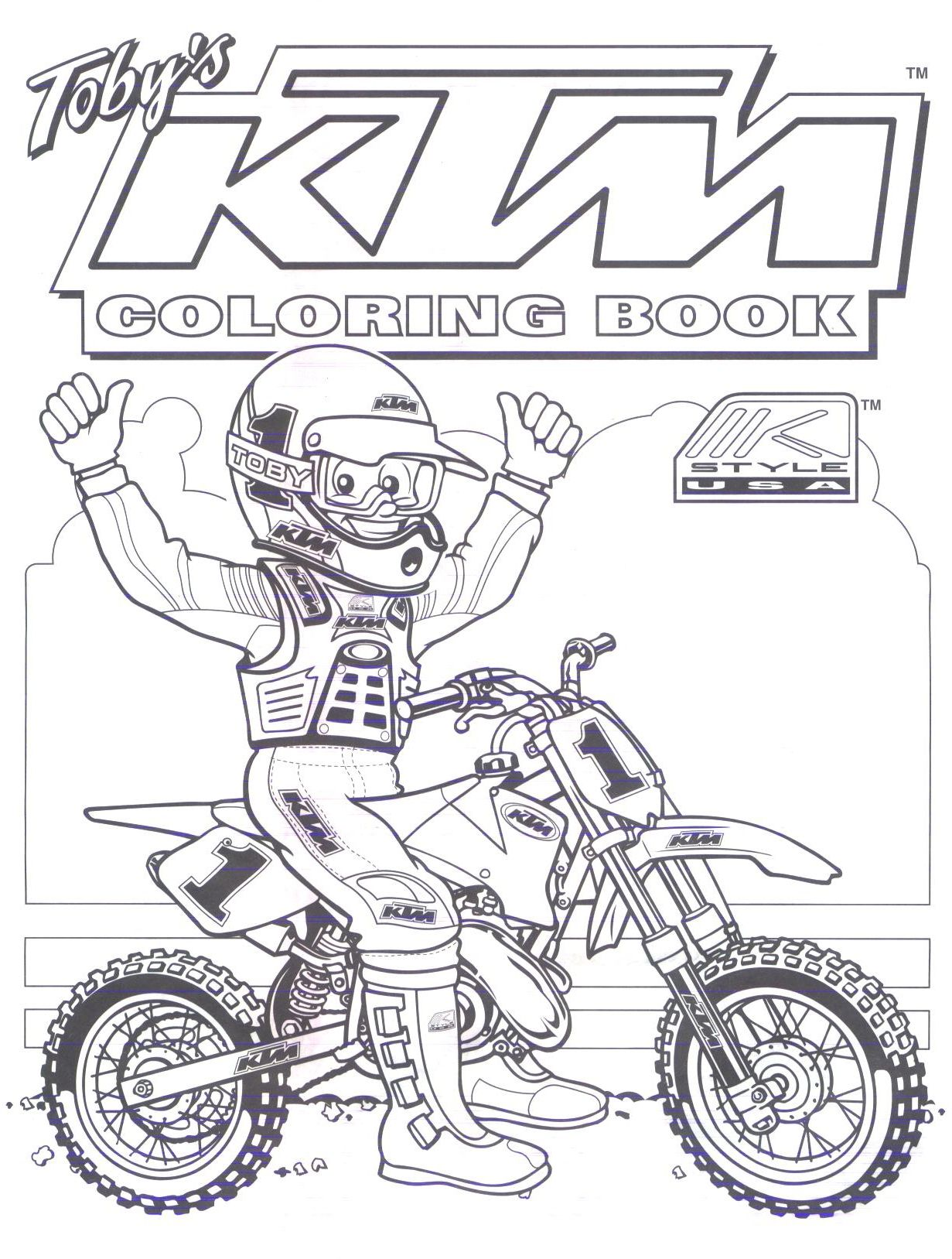 Free coloring pages dirt bikes
