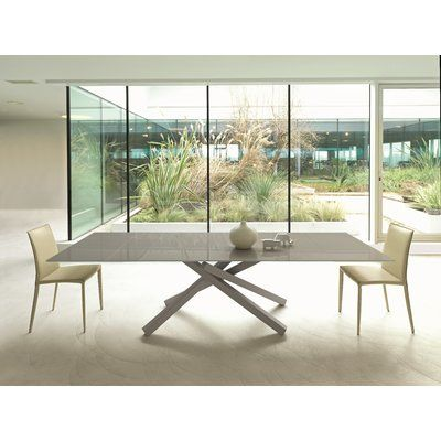 Midj Pechino Dining Table Size 29 5 H X 114 2 L X 41 7 W In