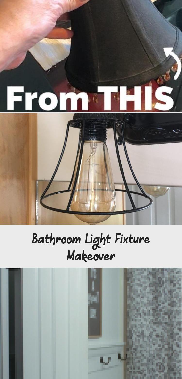 Light Fixture Makeover Bathroom
