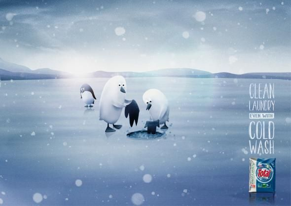 Total: Penguins. #wintertime #creative #artdirection