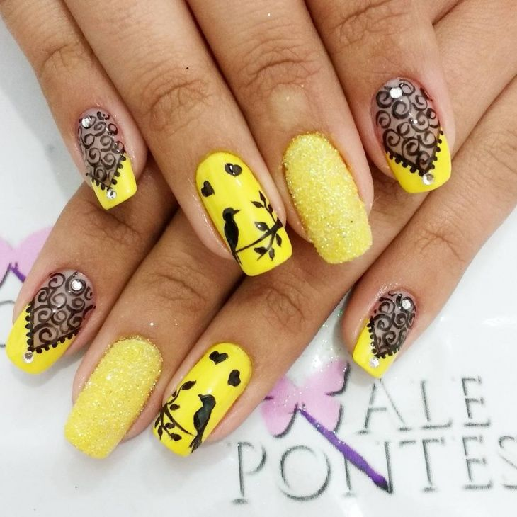 Yellow Nail Design For Long Nails Valdinha Pinterest - Yellow Nails Design Best Nail Designs 2018