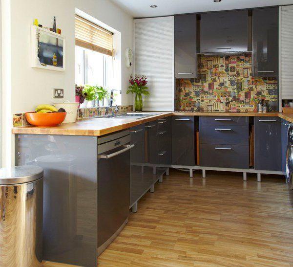 15 Warm and Grey Kitchen Cabinets   Küchenumbau, Schrank ...