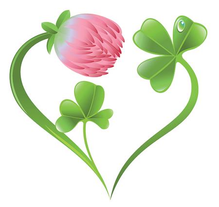 HeartShaped Flower Four leaf clover tattoo, Clover