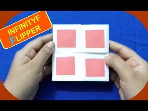 How to Make INFINITY FLIPPER - NEVER ENDING CARD FLEXAGON  | DIY  - Easy...