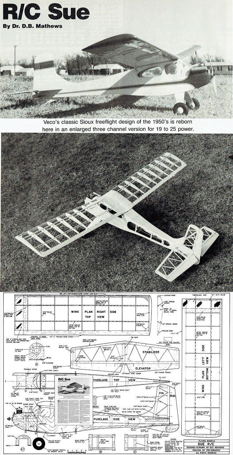 RC Plans Templates and Manuals 182212: Model Airplane Plans (Rc