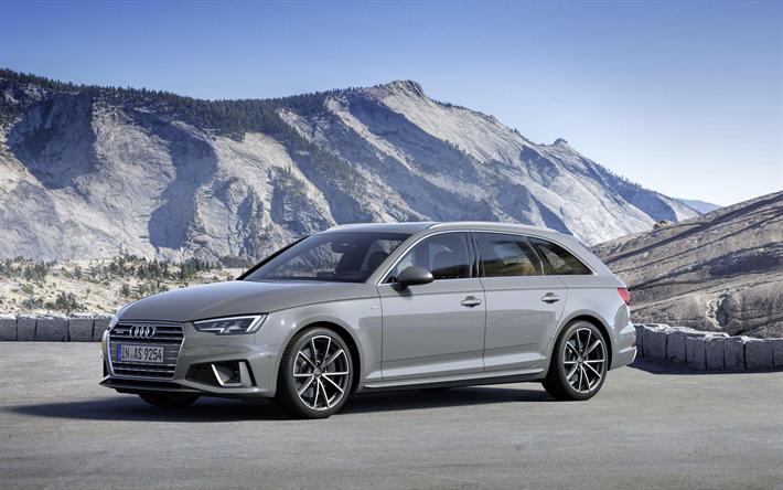 Download Wallpapers Audi A4 Avant 4k 2019 Cars Wagons S Line Gray A4 Avant German Cars Audi Besthqwallpapers Com Audi A4 Avant Audi A4 A4 Avant