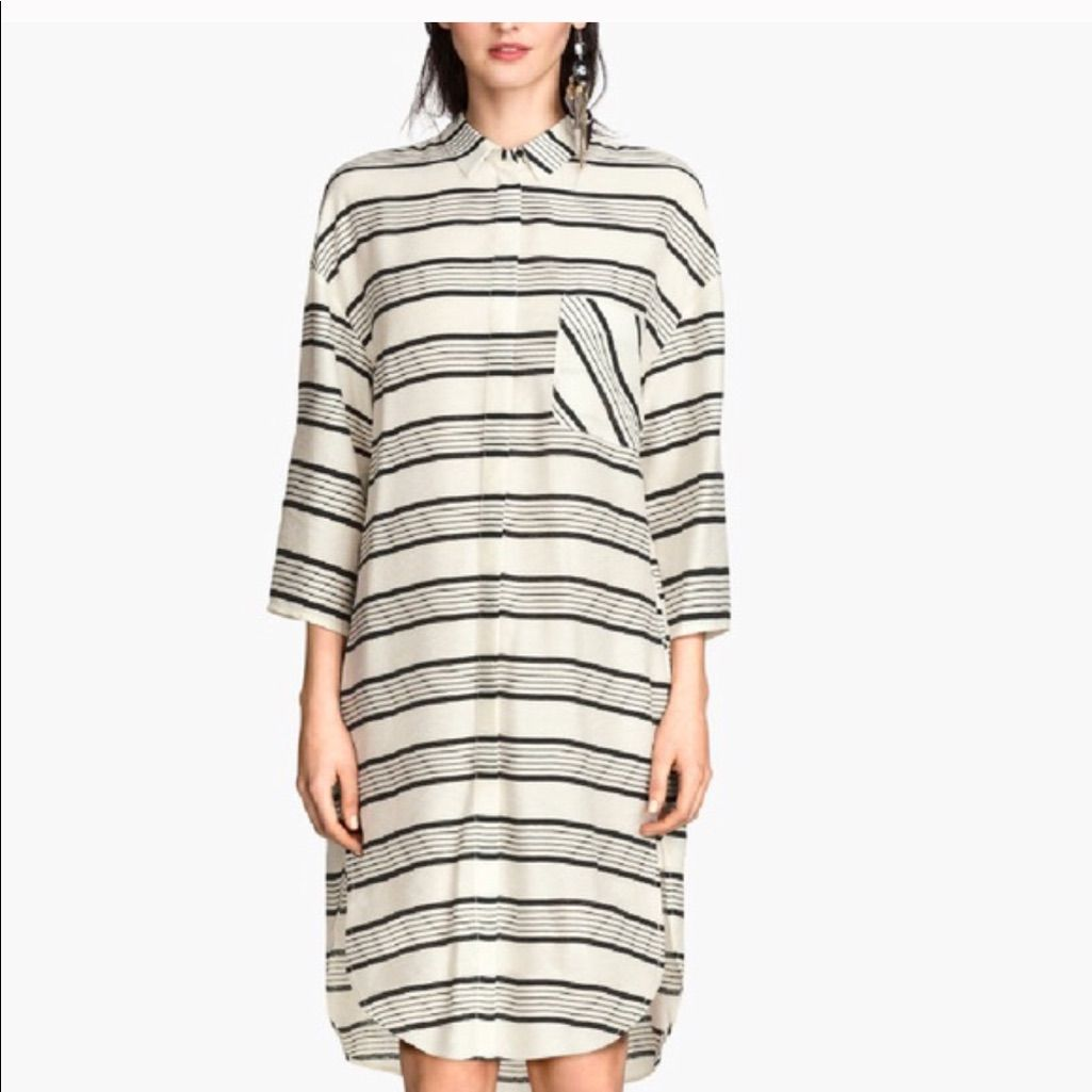 74ef7beb72 H&M Black And White Striped Shirt Dress | Products