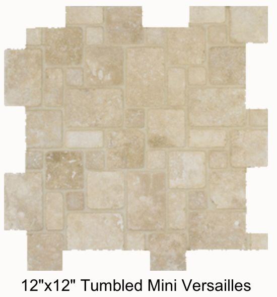 Shower Floor Tile- Torreon Tumbled Travertine Mini Versailles -PERFECT!!! http://m.arizonatile.com/?url=http%3A%2F%2Fwww.arizonatile.com%2FTORREON-P296.aspx#2513