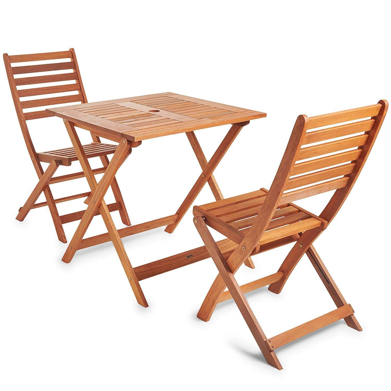 VonHaus Wooden Table and Chair Set - Traditional Garden ...