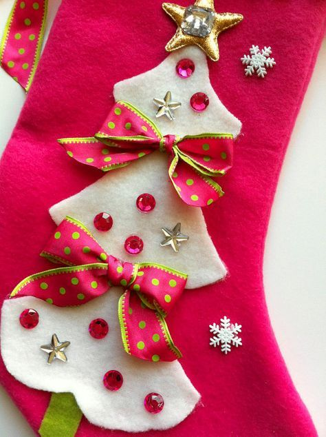 girls christmas stocking pinterest stockings girls and xmas - Girls Christmas Stocking