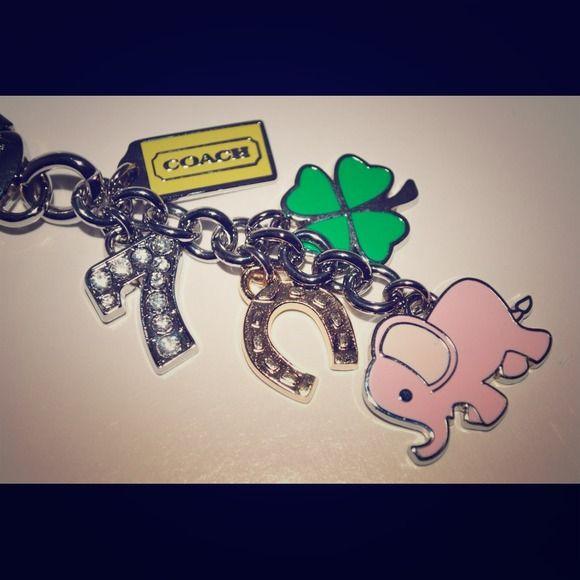 Coach Other - Coach lucky elephant mix charms keychain key fob