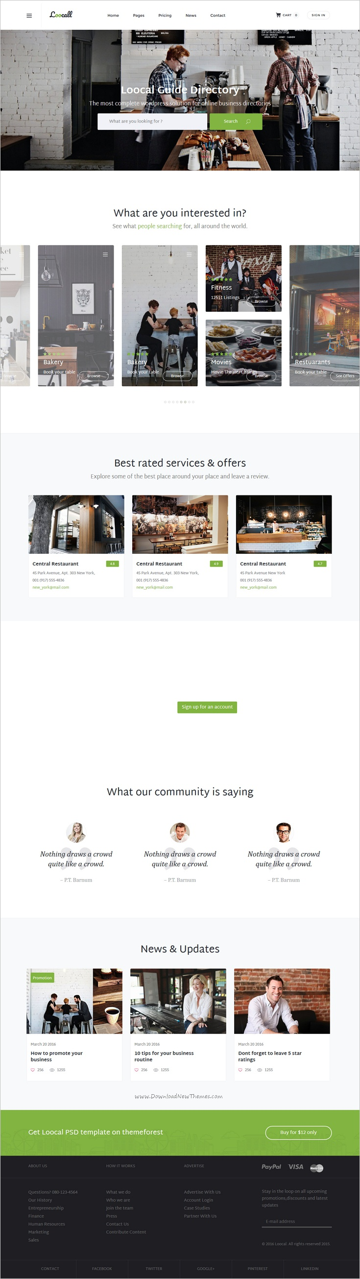 Loocall modern business directory pinterest list website loocall is a wonderful bootstrap template for modern business directory listing website download now friedricerecipe Image collections