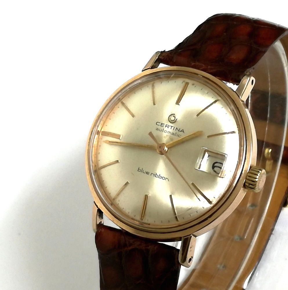 Reloj hombre CERTINA AUTOMATIC BLUE RIBBON Original Vintage ... c63a74f1a8eb