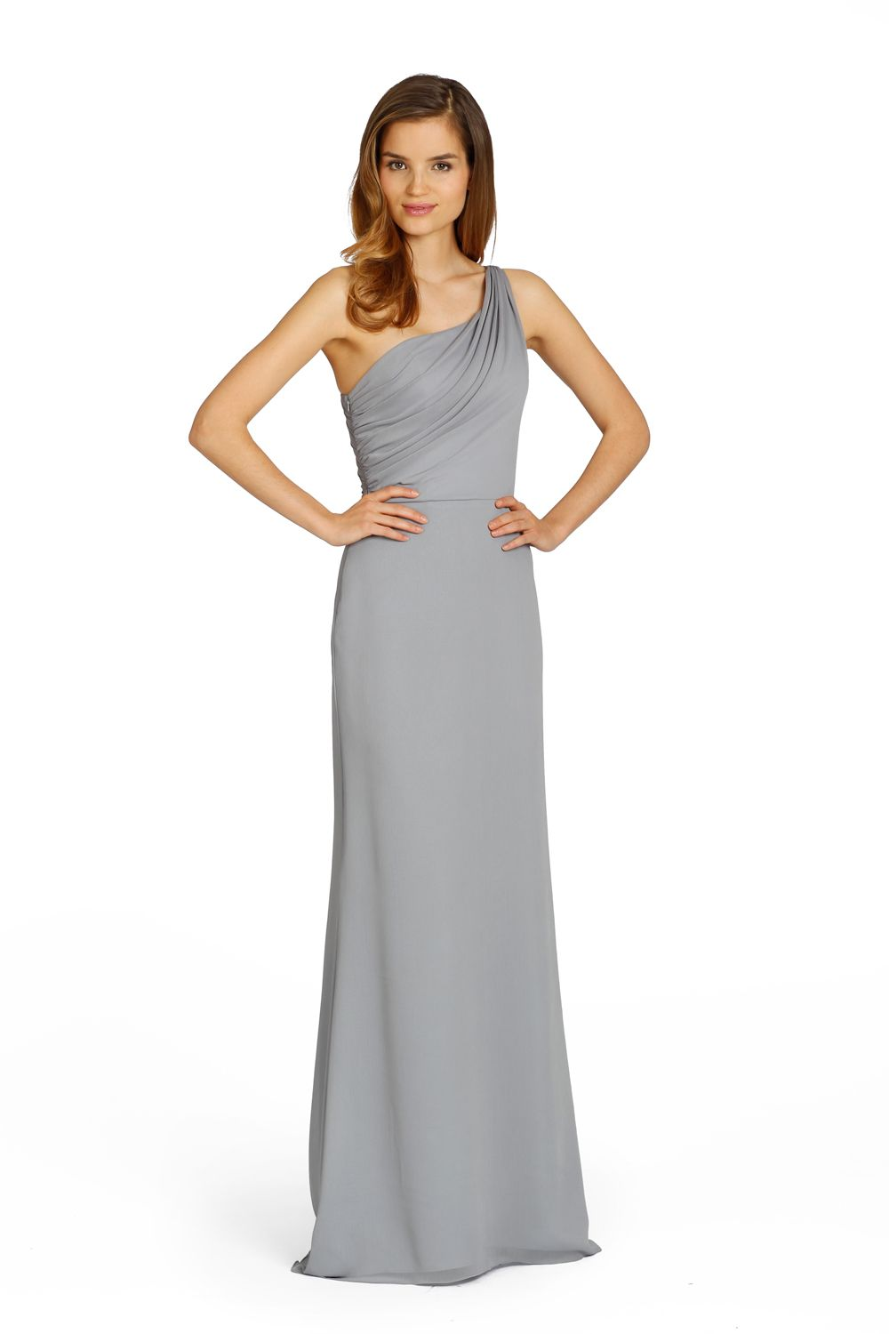 Our favourite one shoulder bridesmaid dresses jim hjelm grey one shoulder bridesmaid dress from jim hjelm occasions ombrellifo Image collections