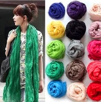 Colorful scarves.
