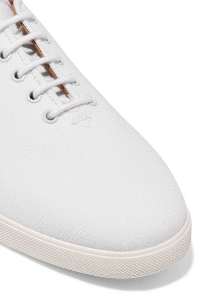 34bb528694a3 The Row - Dean Embroidered Canvas Sneakers - White - IT39.5 ...