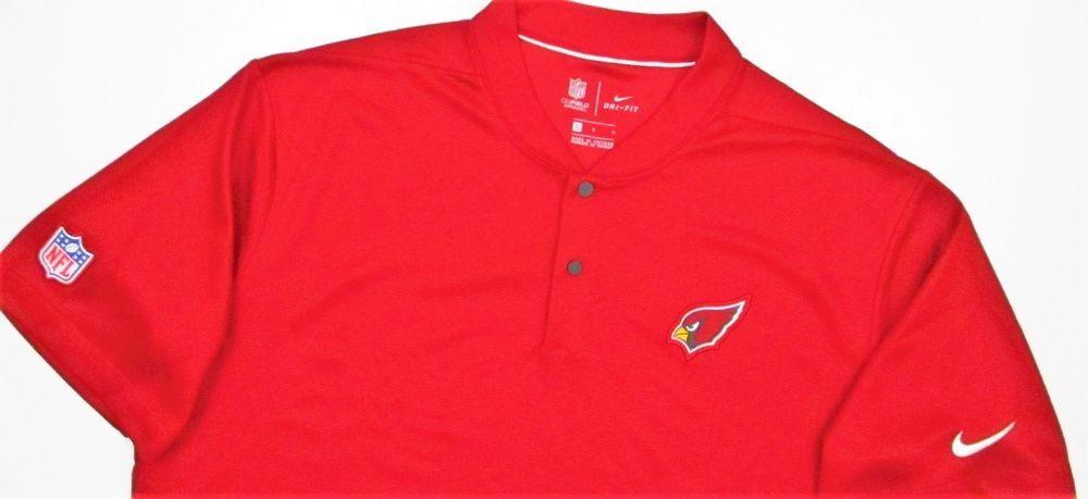 c492708f ARIZONA CARDINALS NFL Blade collar Polo golf shirt L Large red Nike ...