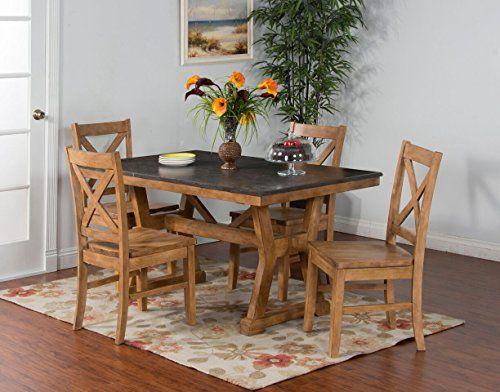 Sunny Designs 1387ds 36 Blue Moon Table With Bluestone Top 36