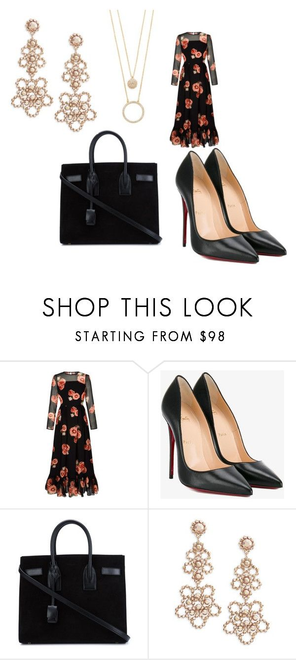 """""""Untitled #44"""" by jaasmina-86 ❤ liked on Polyvore featuring Christian Louboutin, Yves Saint Laurent and Kate Spade"""