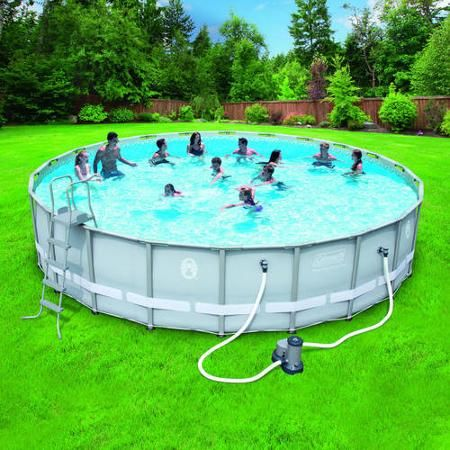Coleman power steel 22 39 x 52 frame swimming pool set - Walmart above ground swimming pools ...