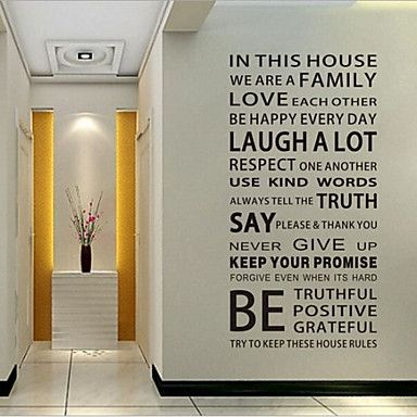 Words & Quotes Wall Stickers Plane Wall Stickers Decorative Wall ...