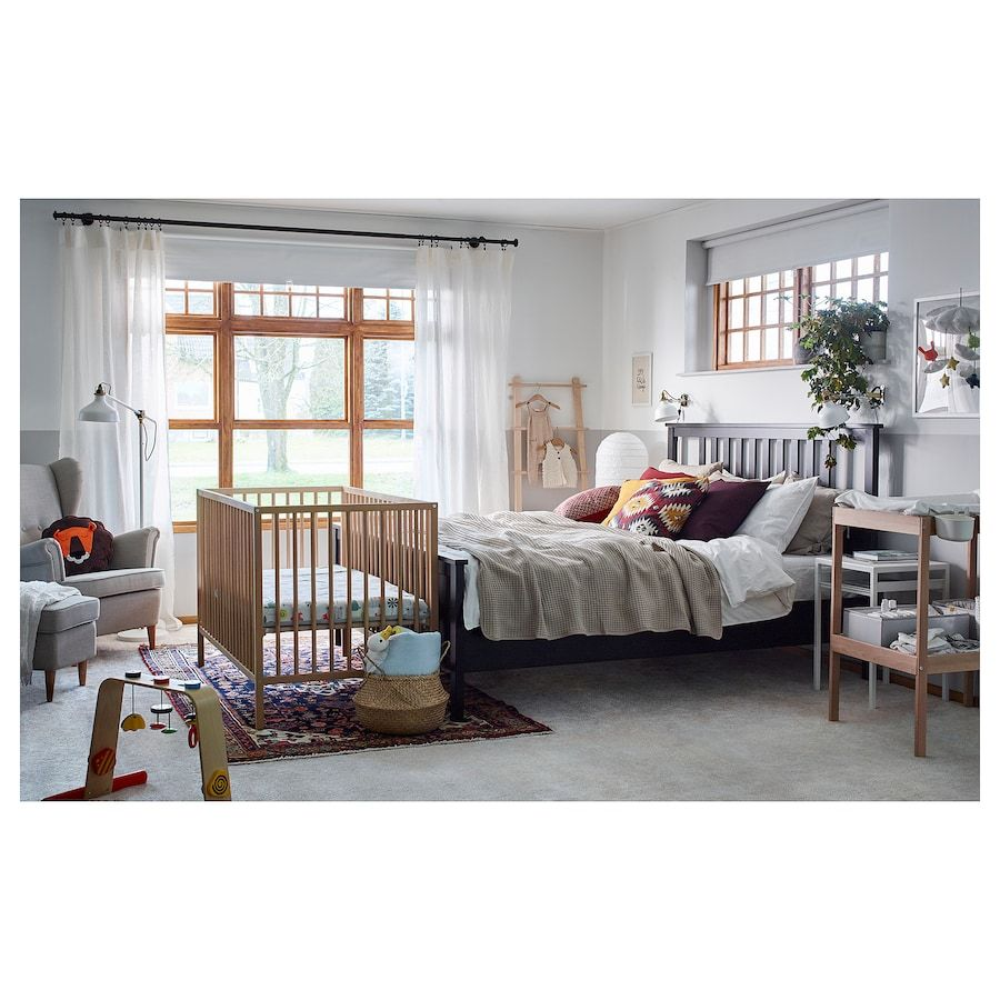 Sniglar Crib Beech 27 1 2x52 Ikea Bedroom Furniture Uk Baby Room