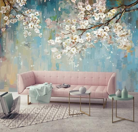 Modern 3d White Room Illusion Expansion Wallpaper Wall Mural In 2021 Home Wallpaper Modern Wall Decor Wallpaper Living Room