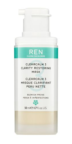 ClearCalm 3 Clarity Restoring Mask REN's ClearCalm3 system combats the 3 key causes of breakouts and blemishes: excess sebum; build up of dead skin cells; blemish-causing bacteria... without harshness. Lightens the appearance of pigmented scars.
