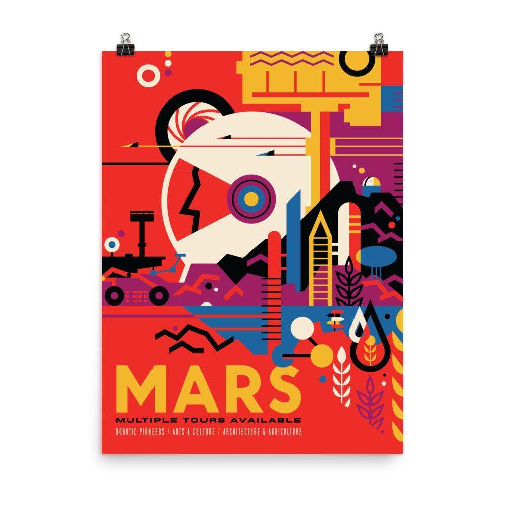 "NASA Travel Posters - ""The Historic Mars Sites"""