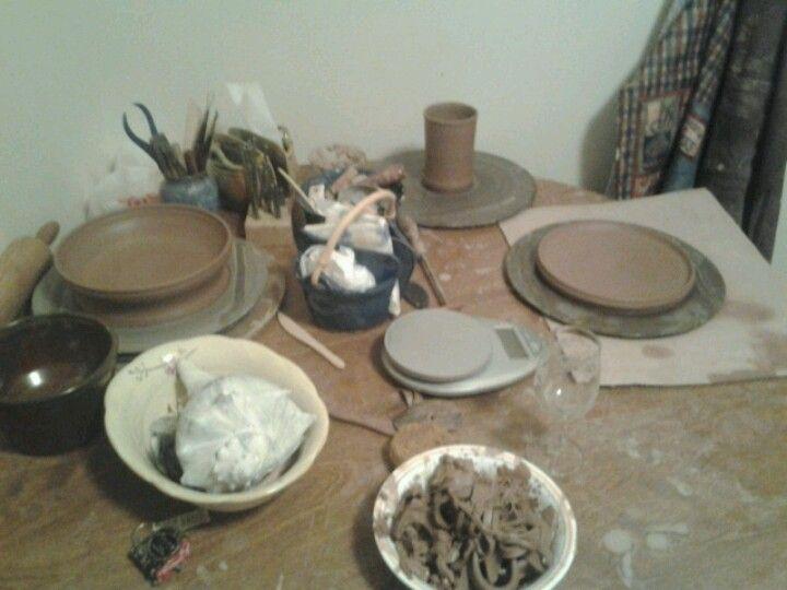 Succulent planter and a cup- D Morgan Pottery